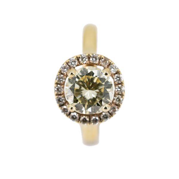 """A """"Fancy"""" Yellow Diamond Ring Offered By The Gilded Lily - image 1"""