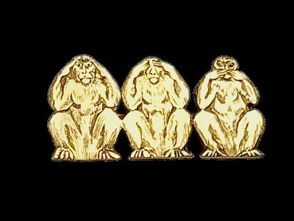 Three wise monkeys by David Morris sku 4903  DBGEMS - image 1