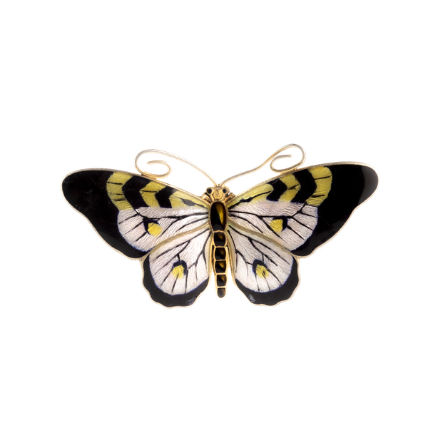 A Black Silver Yellow Butterfly by Marius Hammer - image 1