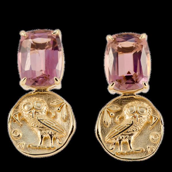 Tourmaline Earrings in 18k Yellow Gold by Lilly Shapiro, SHAPIRO & Co since1979 - image 1