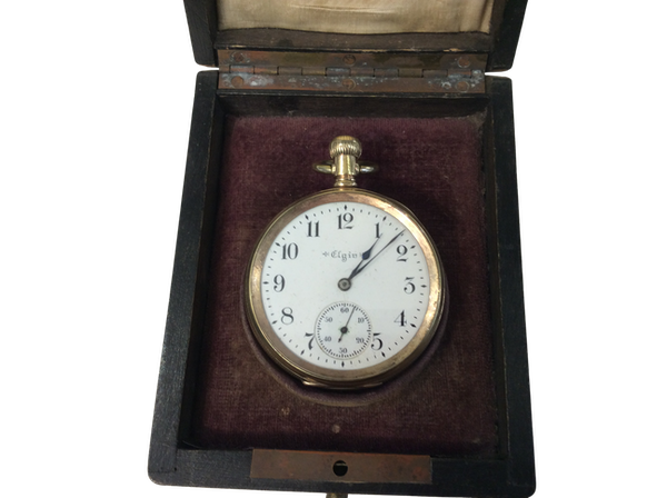 A gold plated Elgin pocket watch - image 1