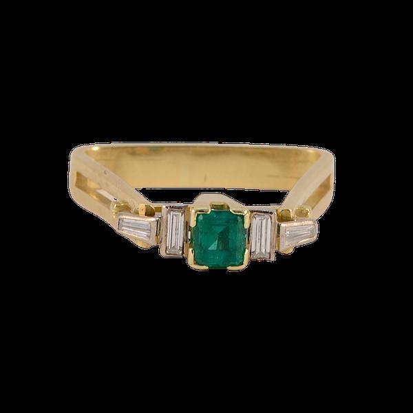 Emerald and diamond unique ring. Spectrum - image 3
