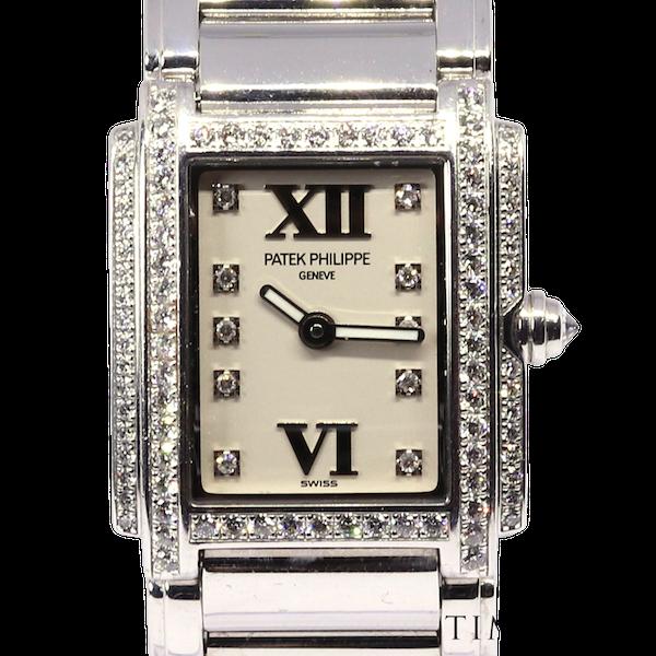 Patek Philippe Twenty~4 Ref 4908 18K White Gold &Diamond Quartz Movement. Ladies - image 1