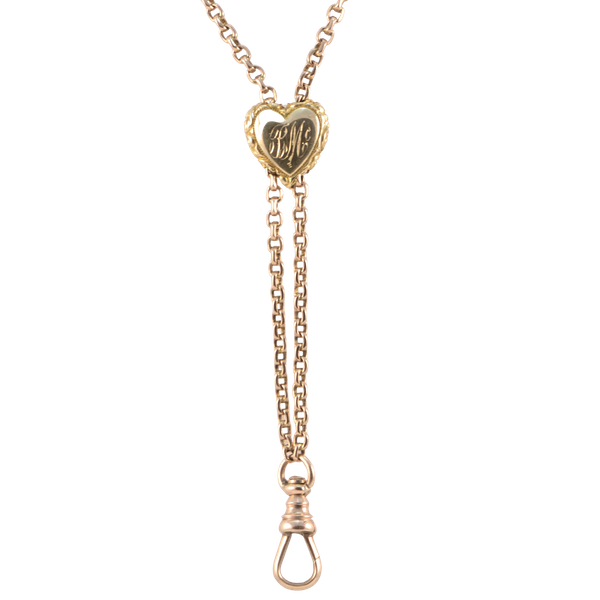 Long Guard Chain in 15ct Gold date circa 1890 SHAPIRO & Co since1979 - image 1