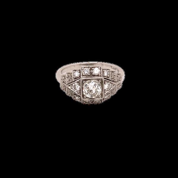 Stylish, Art Deco Ring Ca1920-35 - image 1