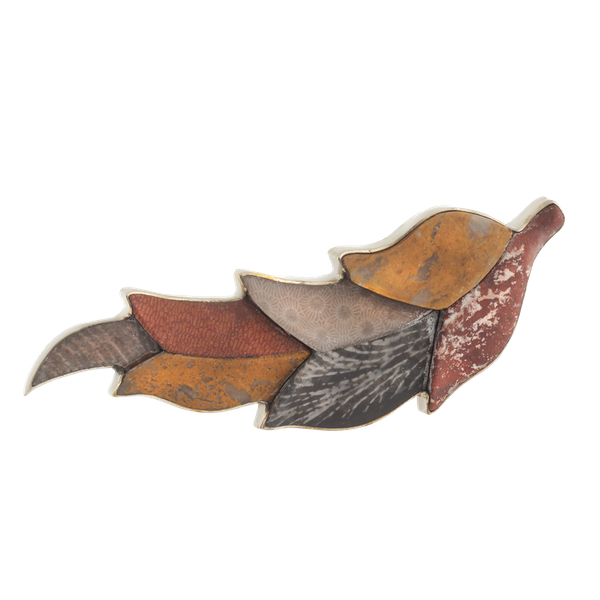 A Silver and Agate Leaf Brooch by the Bradford Brothers - image 1