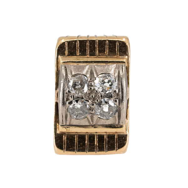 Diamond cluster ring in architectural style - image 1