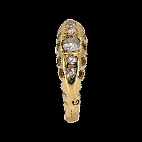 Victorian 5 stone diamond ring - image 1