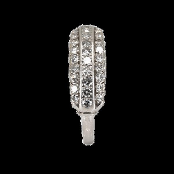 Art Deco 3 row diamond ring - image 1
