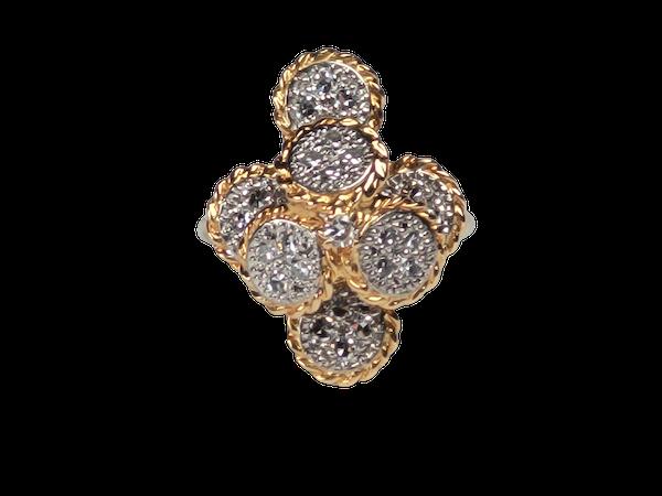 Ben Rosenfeld 1976 diamond set dress ring sku 4938  DBGEMS - image 1