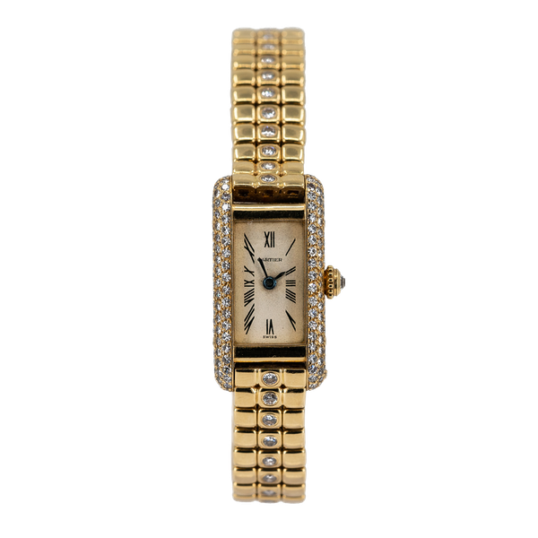 Cartier Ladies Gold and Diamond Set Wristwatch Offered By The Gilded Lily - image 1