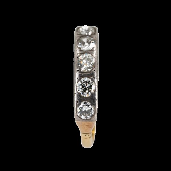 Edwardian 5 stone diamond ring, 0.70 ct total est. - image 1