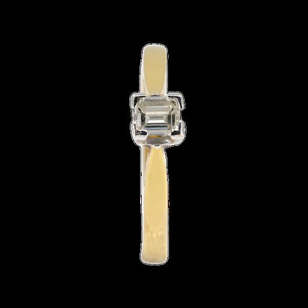 Square diamond solitaire ring, 0.25 ct est. - image 1