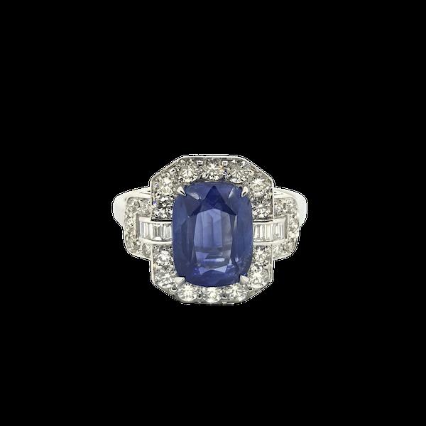 Sapphire & Diamond Dress Ring - image 1