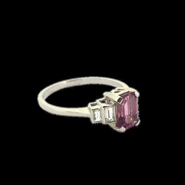 Pink Tourmaline and Diamond Ring - image 1