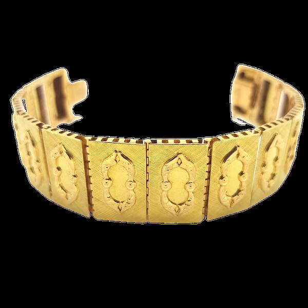Brevetto Panel Bracelet 18 carat Gold - image 1