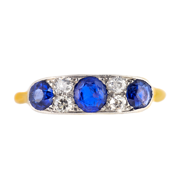 A Diamond and Sapphire Ring - image 1