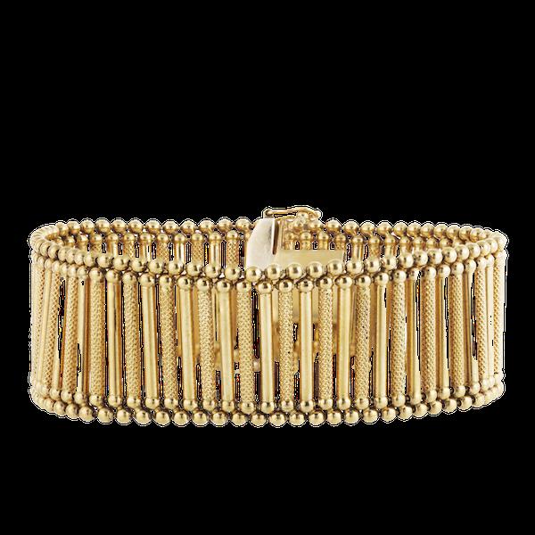An Eighteen Carat Gold Italian Bracelet by Giulio Marotto - image 1