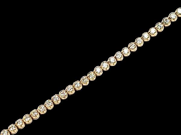 18ct yellow gold diamond tennis bracelet sku 4941  DBGEMS - image 1