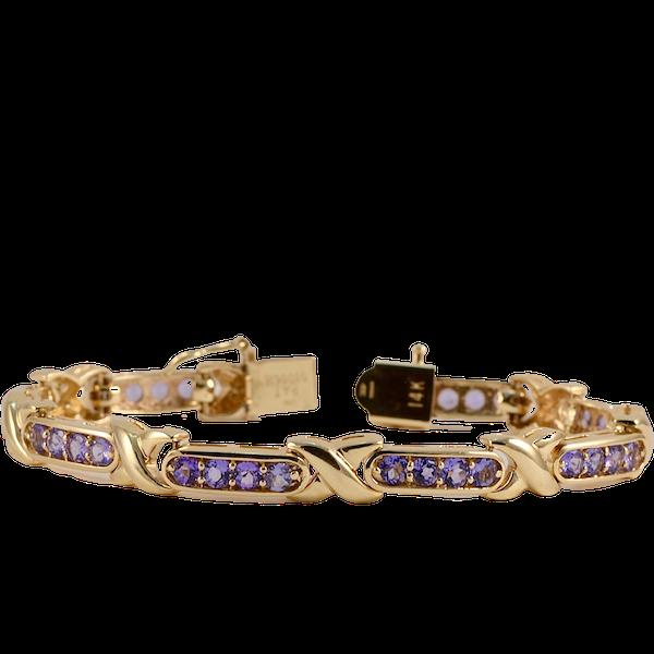 Tanzanite Bracelet in 14ct Gold SHAPIRO & Co since1979 - image 1