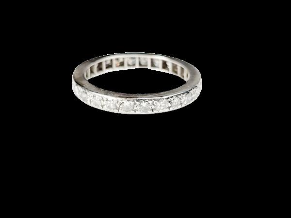 Antique art deco diamond band sku 4951  DBGEMS - image 1