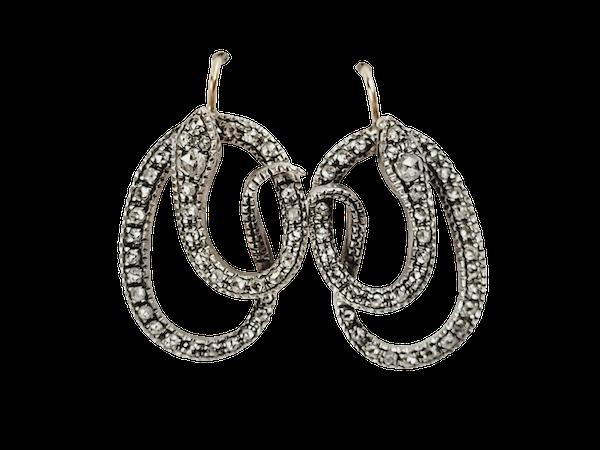 Diamond set snake earrings sku 4954  DBGEMS - image 1