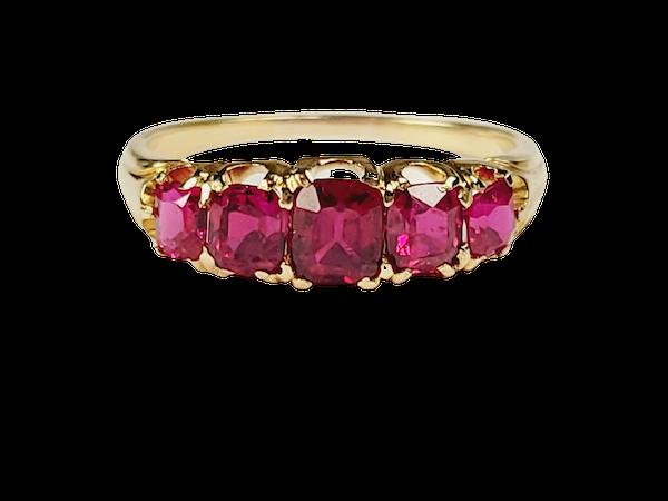 Gem Antique ruby ring sku 4955  DBGEMS - image 1