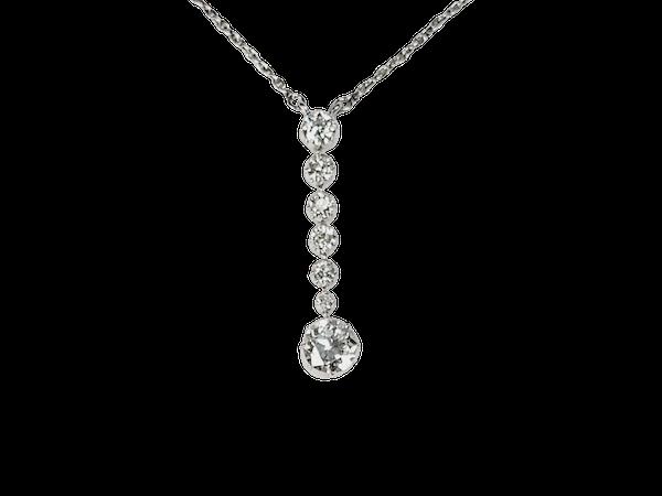 Art deco diamond pendant sku 4957 - image 1