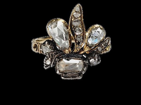Antique diamond giardinetti ring sku 4950 DBGEMS - image 1