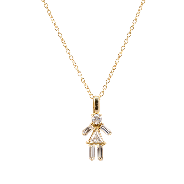 Diamond Matchstick Pendant in 18ct Gold date circa 2012, SHAPIRO & Co since1979 - image 1