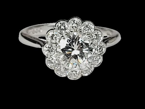 Diamond halo engagement ring sku 4965  DBGEMS - image 1
