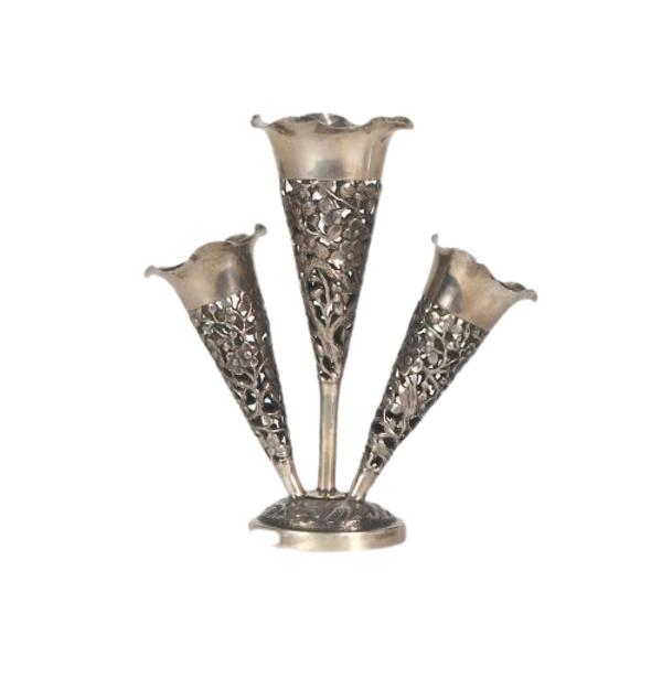 Chinese vase with three stems - image 1