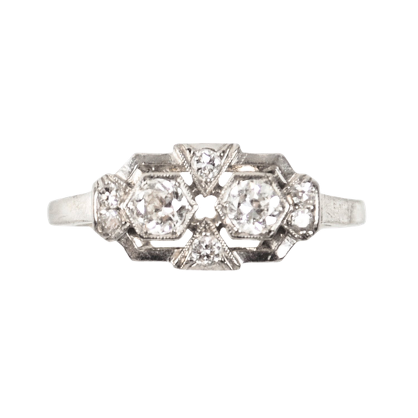 A French Art Deco Diamond Ring - image 2