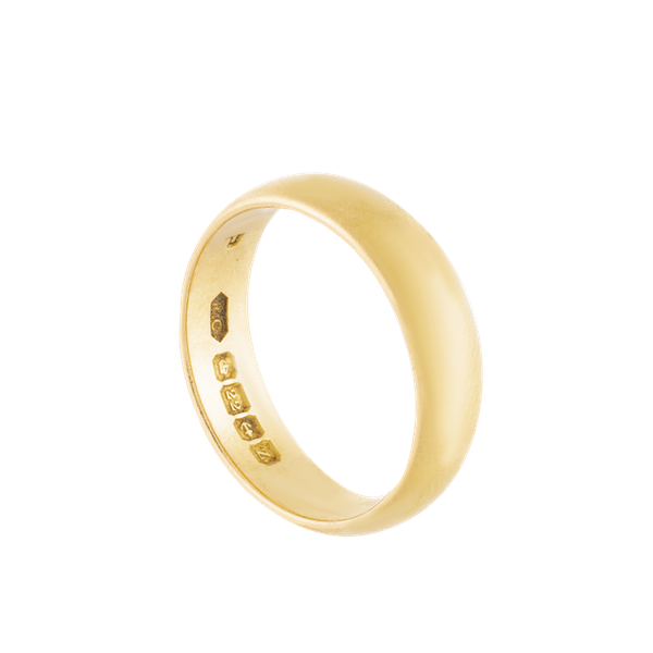 A 22ct Gold Wedding ring - image 2