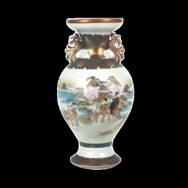 Japanese Kutani vase with decorative ears - image 1