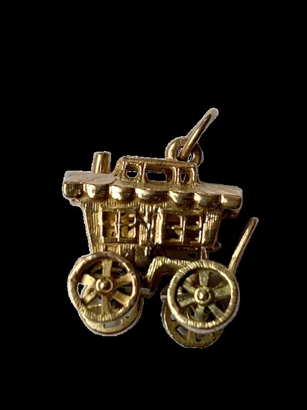 9ct gold fortune teller in opening caravan charm. Sprectrum - image 1