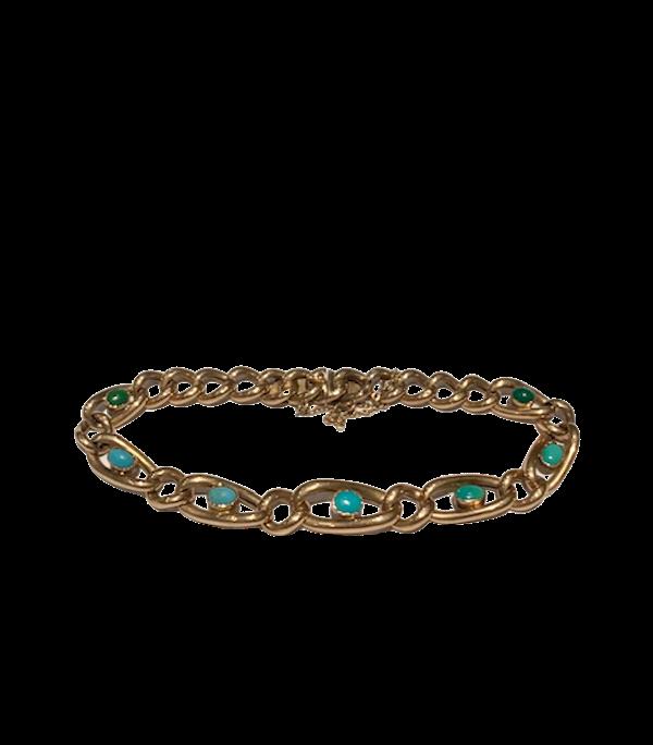 Turquoise Victorian 9ct gold bracelet. Spectrum - image 1