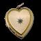 Diamond and 9ct Victorian heart opening locket. Spectrum - image 1