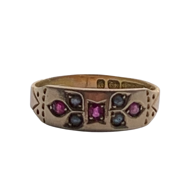 Ruby and pearl Victorian ring. Spectrum - image 1