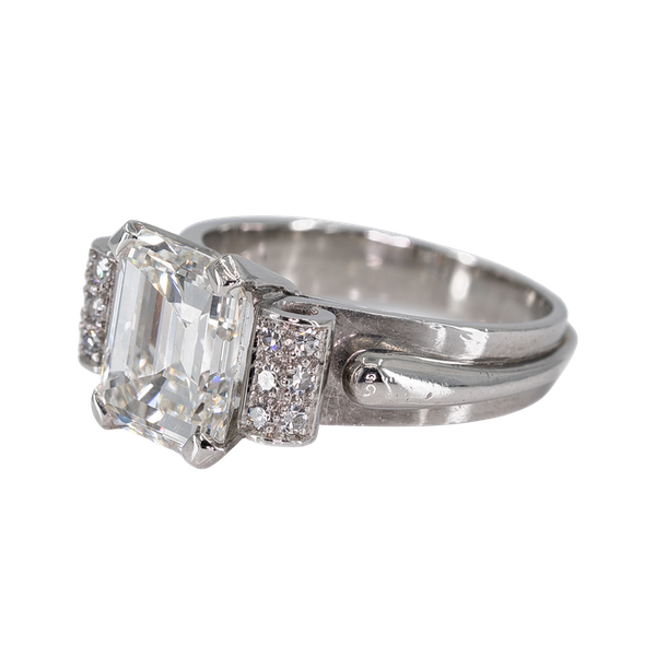 3.3 carat Emerald cut diamond ring - image 1
