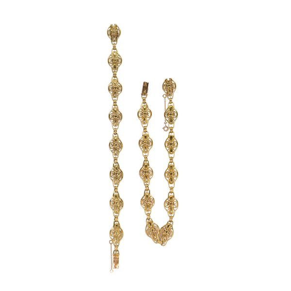 French gold necklace which breaks into a bracelet - image 1