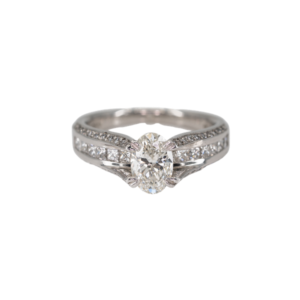 An Unusual Platinum Engagement Ring Offered by The Gilded Lily - image 1