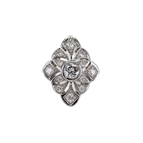 A Pierced Goldwork Diamond Set Ring Offered by The Gilded Lily - image 1