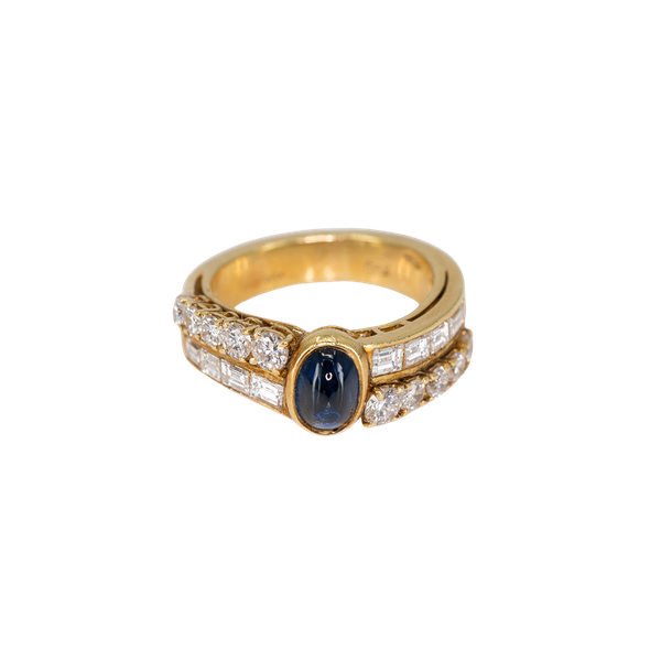 A Sapphire and Diamond Ring by Fred, Paris, Offered by The Gilded Lily - image 1