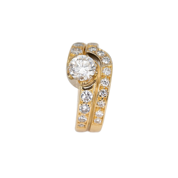 A Matching, Fitted, Engagement Ring and Wedding Band Offered by The Gilded Lily - image 1