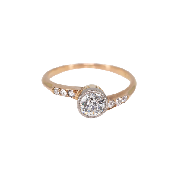 An Attractive Yellow Gold Solitaire Diamond Ring Offered by The Gilded Lily - image 1