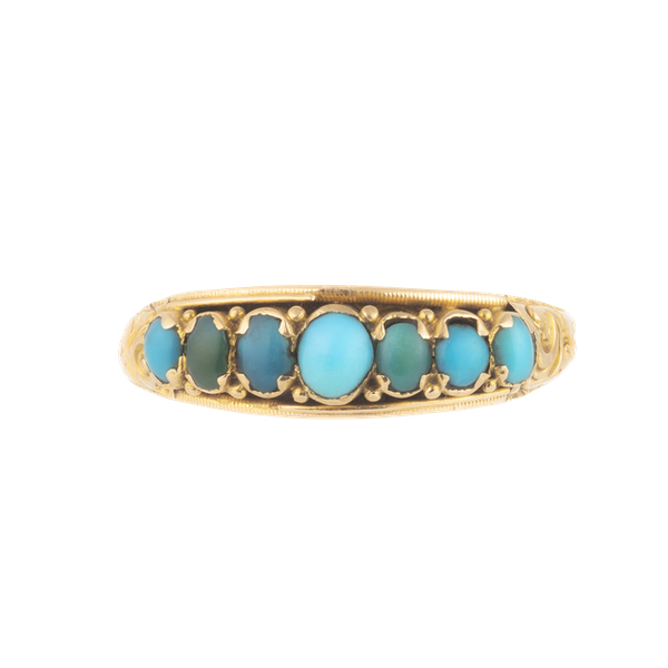A Turquoise Gold Ring - image 1