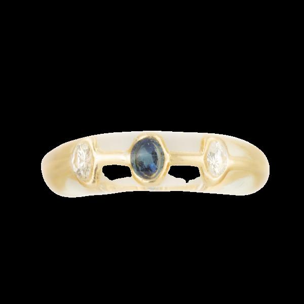 A Gold Sapphire Diamond Ring by Pascal Morabito - image 1