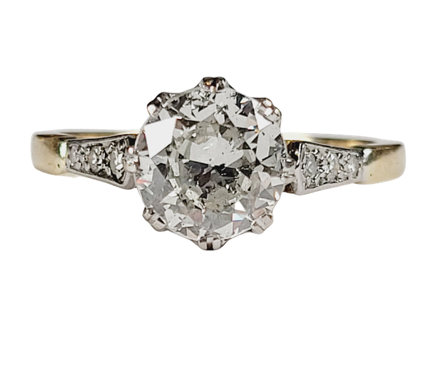 Antique 1.60ct old European transitional cut diamond engagement ring sku 4973 DBGEMS - image 1