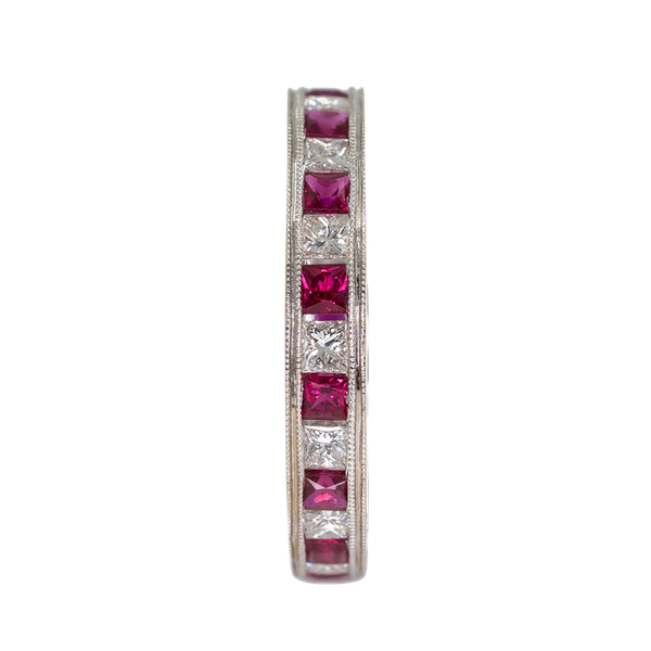 Diamond and ruby full eternity ring - image 1